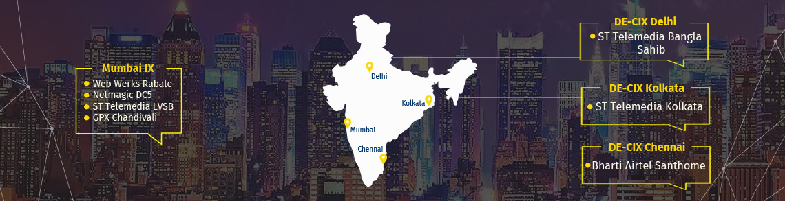 DE-CIX India Internet Exchanges in Mumbai, Delhi, Chennai & Kolkata