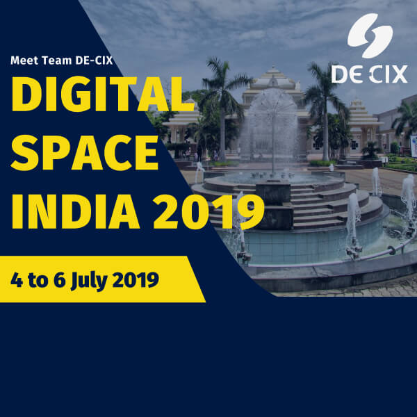 DE-CIX India is attending Digital Space India, Chennai 2019