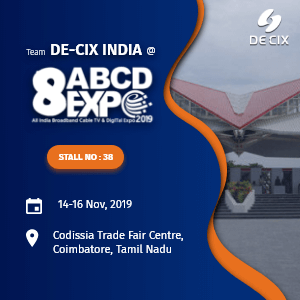 DE-CIX India at ABCD Expo 2019